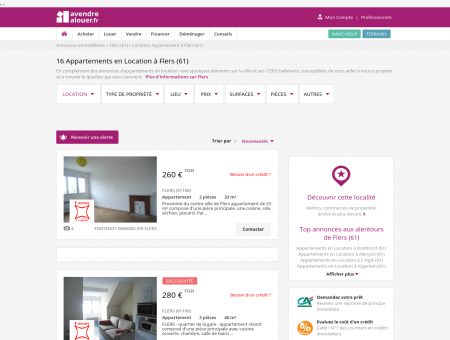 Location Appartement Flers (61) | Louer...
