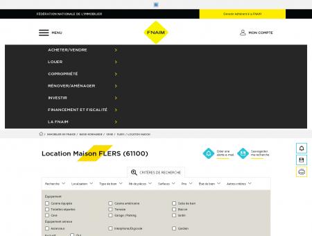 Location Maison FLERS (61100) - Fnaim.fr -...