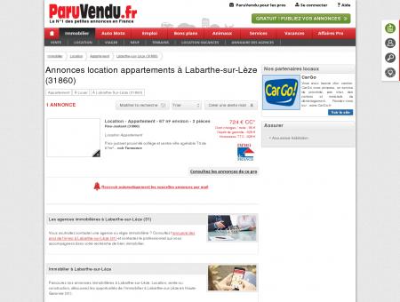 Location appartement à Labarthe-sur-Lèze...