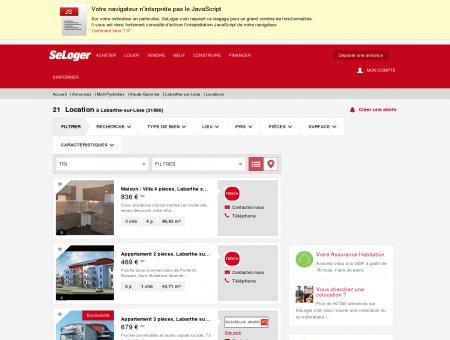 Location immobilier Labarthe-sur-Lèze (31860)...