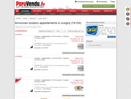 Location appartement à Juvigny (74100) :...