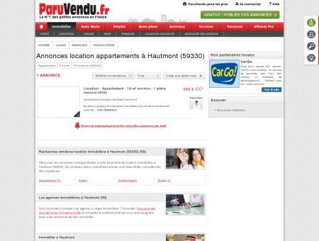 Location appartement à Hautmont (59330) :...