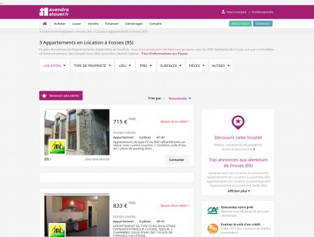 Location Appartement Fosses (95) | Louer...