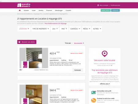 Location Appartement Hayange (57) | Louer...