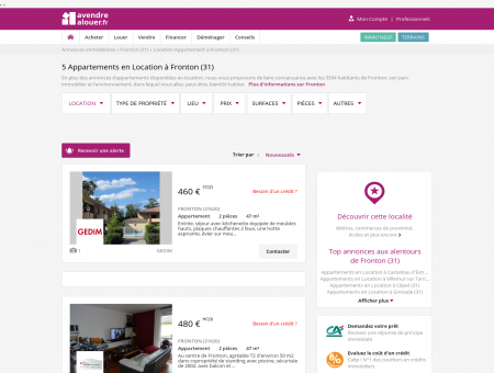 Location Appartement Fronton (31) | Louer...
