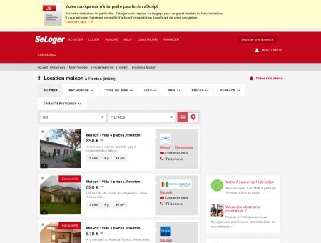 Location de maisons Fronton (31620) | Louer...