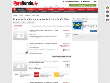 Location appartement à Joinville (52300) :...