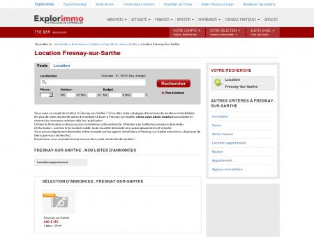 Location Fresnay-sur-Sarthe : immobilier à...