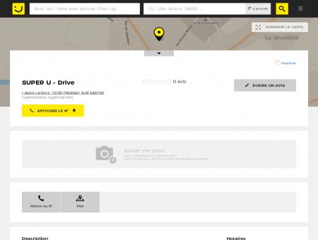 Location U Fresnay sur Sarthe (adresse, horaires)