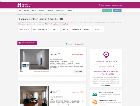 Location Appartement Graulhet (81) | Louer...