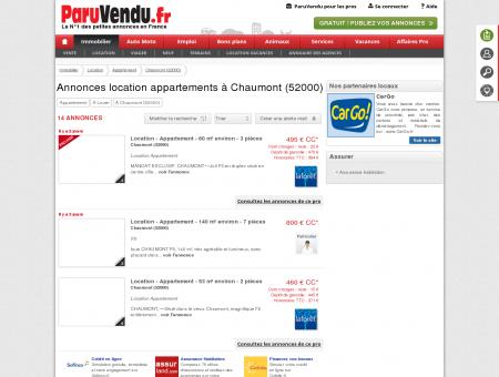 Location appartement à Chaumont (52000) :...