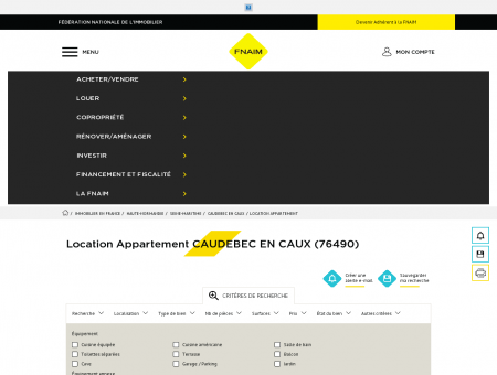 Location Appartement CAUDEBEC EN CAUX...