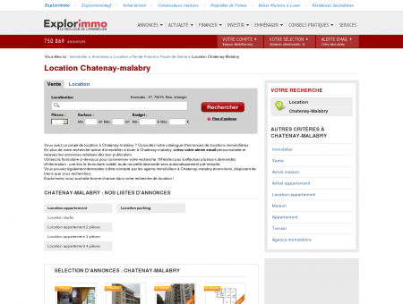 Location Chatenay-malabry : immobilier à...