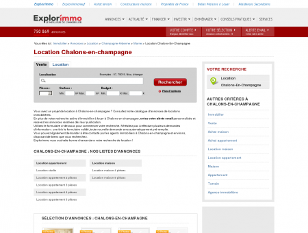 Location Chalons-en-champagne : immobilier...