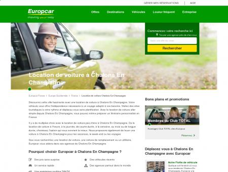 Location de voiture à Chalons En Champagne,...