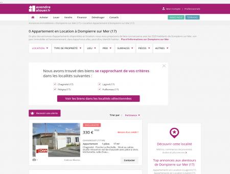 Location Appartement Dompierre sur Mer...