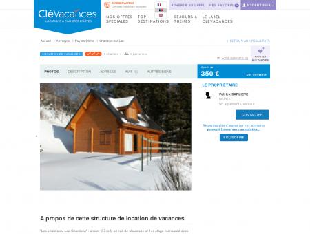 Location de vacances - Chambon-sur-Lac -...