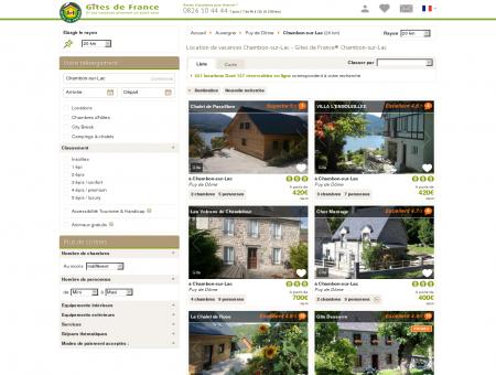Location de vacances Chambon-sur-Lac - Gîtes...