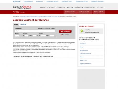 Location Caumont-sur-Durance : immobilier à...