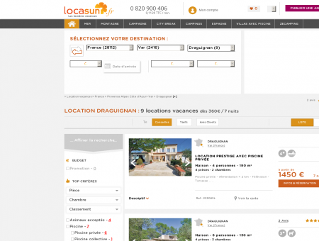 LOCATION DRAGUIGNAN : 9 locations...
