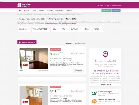 Location Appartement Champigny sur Marne...