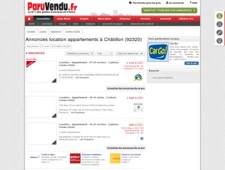 Location appartement à Châtillon (92320) :...