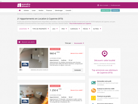 Location Appartement Cayenne (973) | Louer...