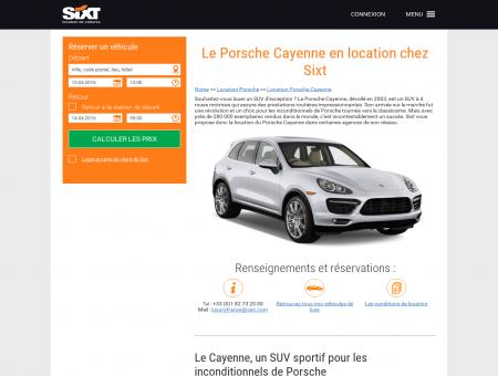 Location Porsche Cayenne chez Sixt