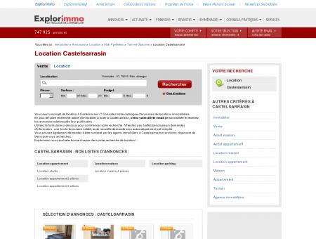 Location Castelsarrasin : immobilier à louer...