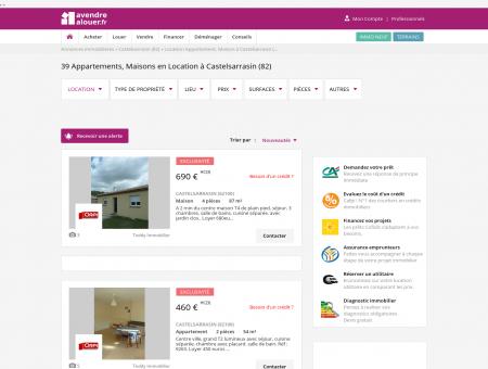 Location Castelsarrasin   avendrealouer.fr