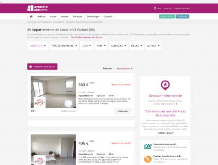 Location Appartement Cusset (03) | Louer...