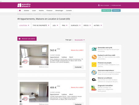 Location Cusset | avendrealouer.fr