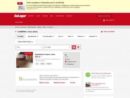 Location immobilier Celles (09000) | Louer à...