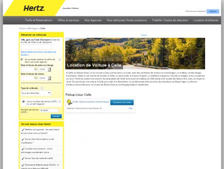 Location de Voiture à Celle - Hertz