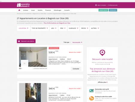 Location Appartement Bagnols sur Cèze (30) |...