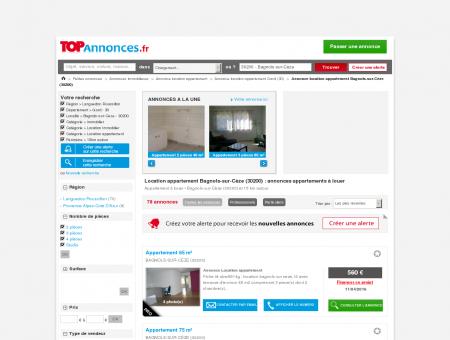 Location appartement Bagnols-sur-Cèze...