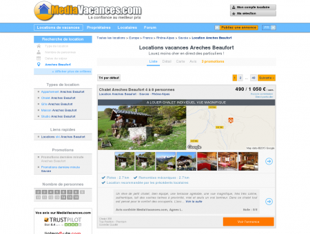 LOCATIONS VACANCES ARECHES BEAUFORT:...