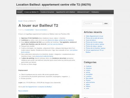 A louer sur Bailleul T2 | Location Bailleul:...