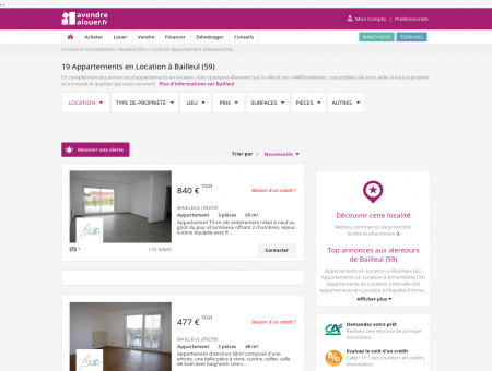 Location Appartement Bailleul (59) | Louer...