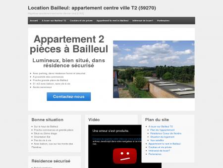 Location Bailleul: appartement centre ville T2...