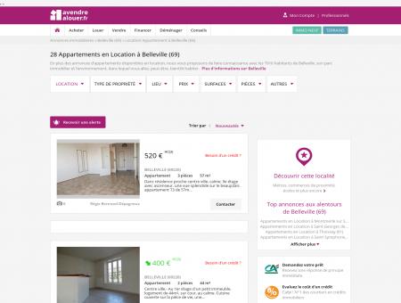 Location Appartement Belleville (69) | Louer...