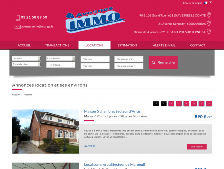 Avesnes immo - location immobiliere sur...