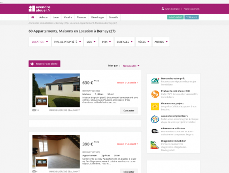 Location Bernay | avendrealouer.fr