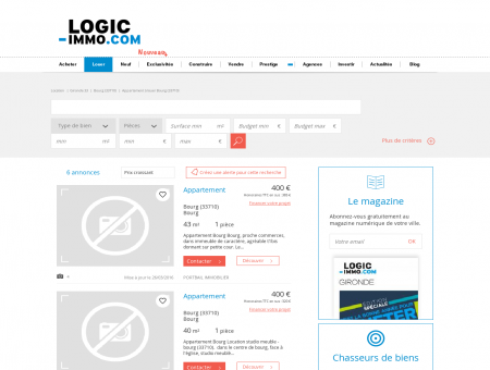 Location Bourg | logic-Immo.com
