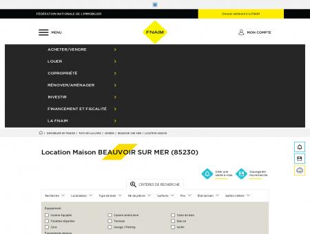 Location Maison BEAUVOIR SUR MER (85230) ...