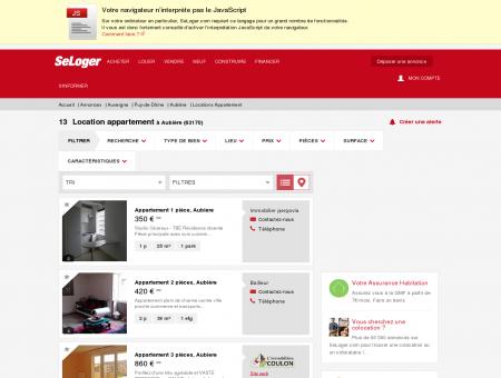 Location d'appartements Aubière (63170) |...