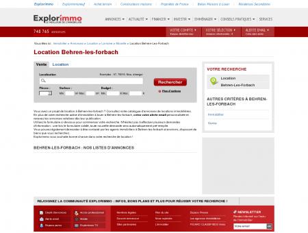 Location Behren-les-forbach : immobilier à...