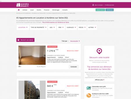 Location Appartement Asnières sur Seine (92)...