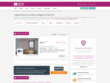 Location Appartement Aubigny sur Nère (18) |...