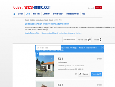 Location Maison à Aubigny : louez votre...